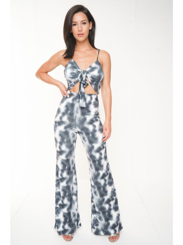 Tie Dye Crop Top And Trouser Co-ord