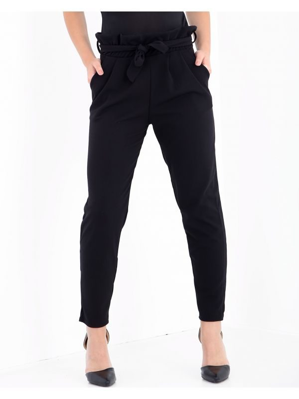 New Paper Bag Tie Waist Trousers